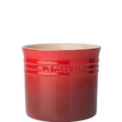 Stoneware Large Utensil Jar Cerise