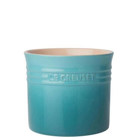 Stoneware Large Utensil Jar Teal