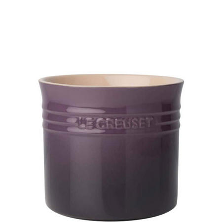 Stoneware Large Utensil Jar Purple