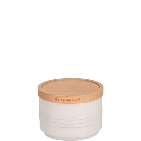 Stoneware Small Storage Jar With Lid Cream