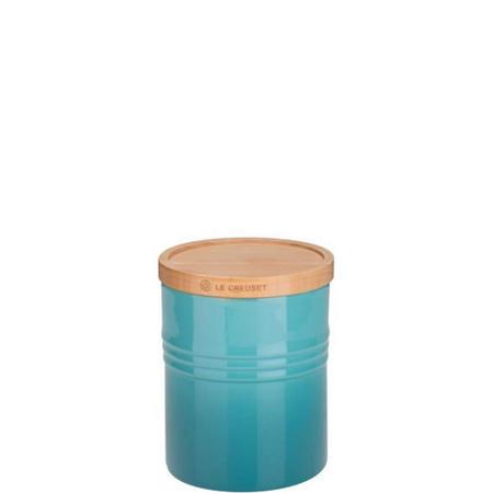 Stoneware Medium Storage Jar Teal