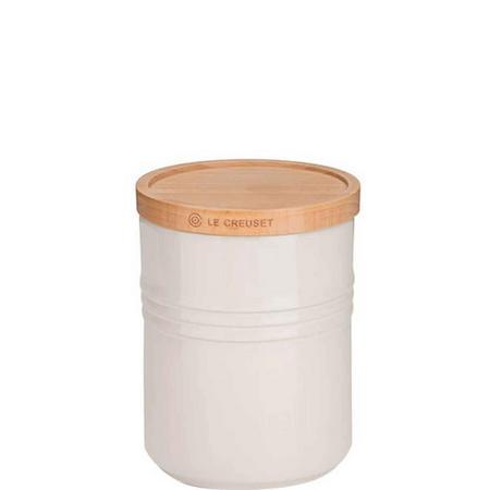 Stoneware Medium Storage Jar With Lid Cream