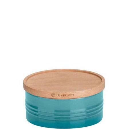 Stoneware Large Storage Jar With Lid Teal