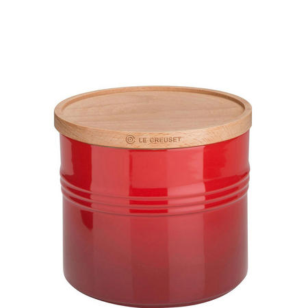 Stoneware XLarge Storage Jar With Lid Cerise