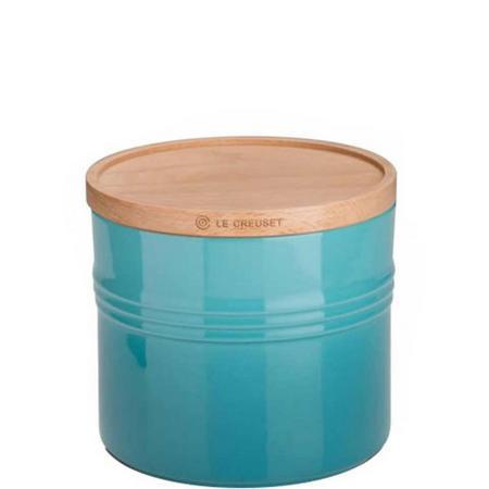 Stoneware Extra Large Storage Jar Teal
