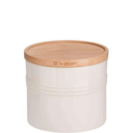 Stoneware XLarge Storage Jar With Lid Cream
