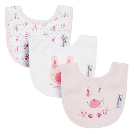 3-Pack Newborn Bibs Pink