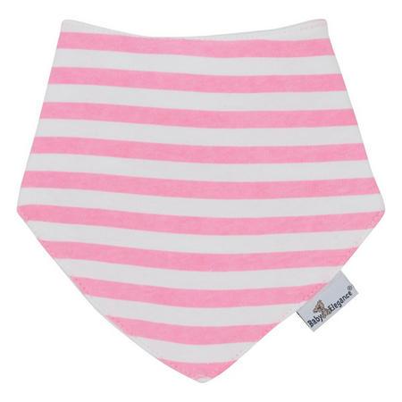 Stripes Bandana Bib Pink