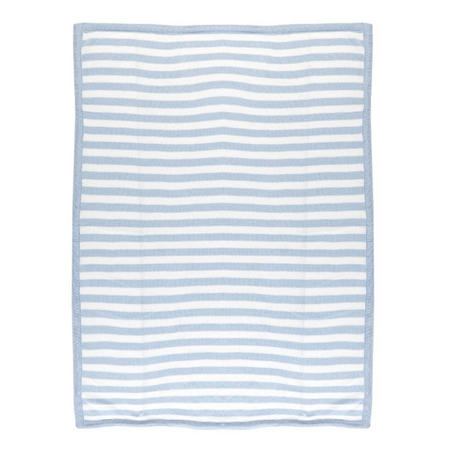 Pearl Knit Blanket Blue