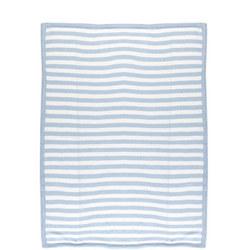 Pearl Knit Blanket Blue