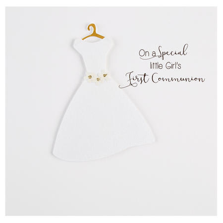 Girls First Communion Card White