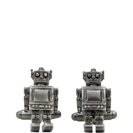 Robot Cufflinks Silver