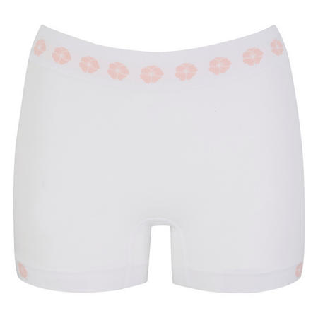 Rose Shorty Briefs White