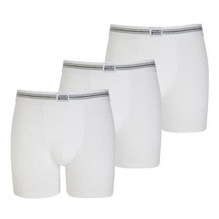 Three-Pack Boxer Trunks White