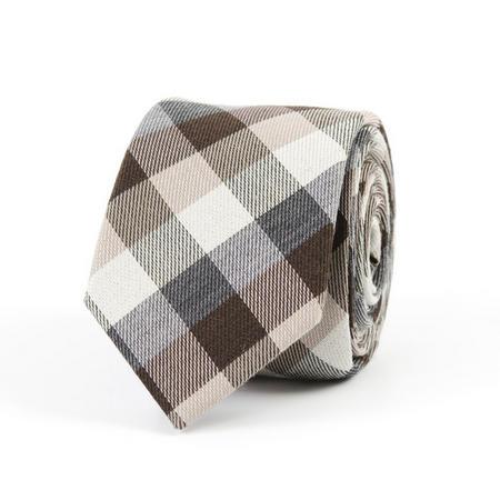 Wool Check Tie Wine