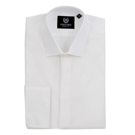 Double Cuff Formal Shirt White