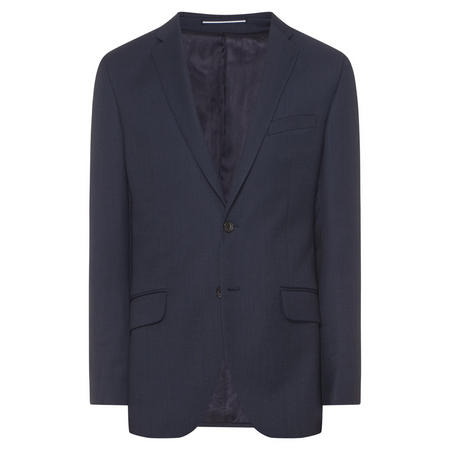 Birdseye Slim Fit Jacket Navy