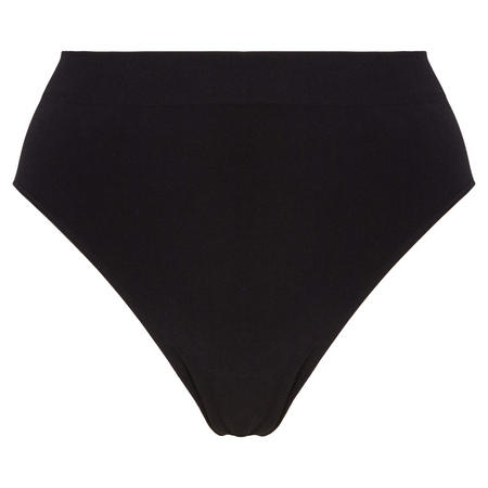 B.Smooth High Leg Brief Black