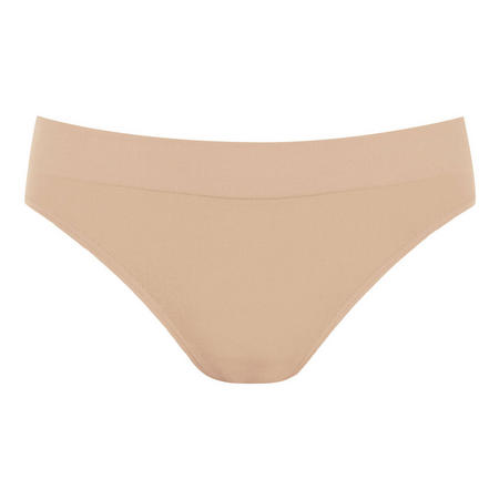 B.Smooth High Leg Brief Nude