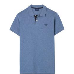 Contrast Collar Polo Shirt Blue