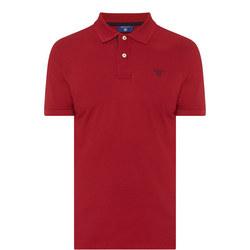 Contrast Collar Polo Shirt Red