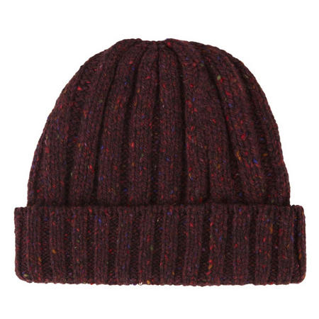Wool Beanie Hat Red