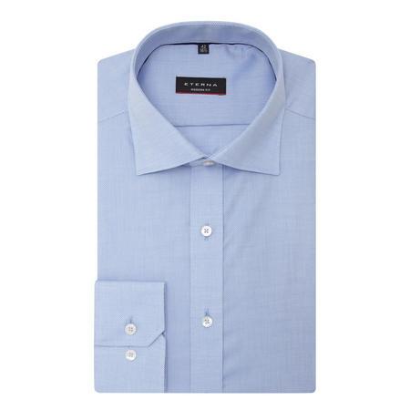 Basic Cotton Formal Shirt Blue