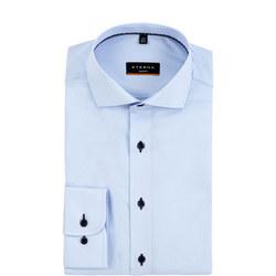 Slim Fitting Formal Shirt Blue