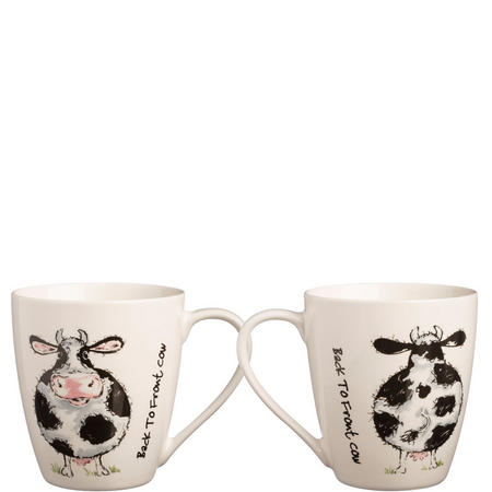 Back To Front Cow Fine China Mug