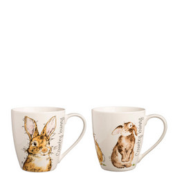 Country Bunnies Fine China Mugs