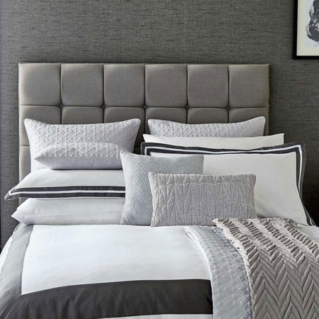 Imperial Oxford Pillowcase White/Grey