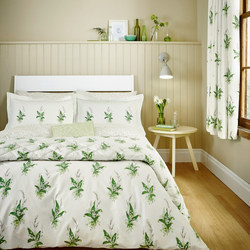 Muguet Co-ordinated Duvet Cover Set Green