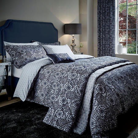 Fiore co-ordinated Duvet Cover Navy