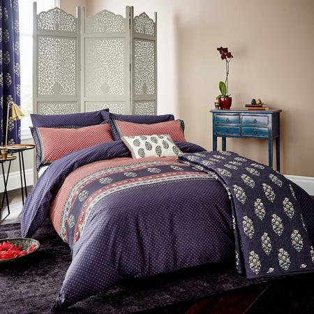 Nina co-ordinated Duvet Cover Set Navy