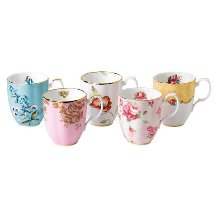 100 Years of Royal Albert  Mug Set of 4