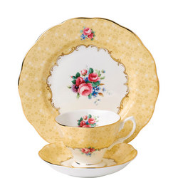 100 Years of Royal Albert Bouquet 1990 Teacup & Saucer Plate 20cm