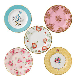 100 Years of Royal Albert Plate Set of 5 Multicolour