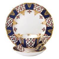100 Years of Royal Albert Regency Blue 1900 Teacup & Saucer Plate 20cm