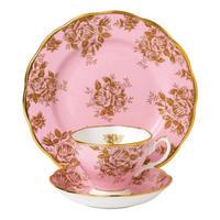 100 Years of Royal Albert Golden Rose 1960 Teacup & Saucer Plate 20cm