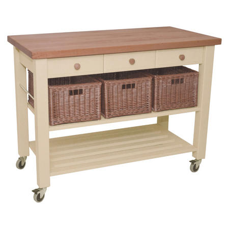 Lambourn 3 Drawer Trolley White