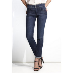 Slim Push In Secret Jeans Mid Blue Wash
