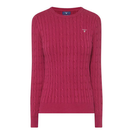 Cable Knit Sweater Pink