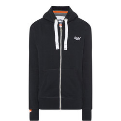 Original Zip Through Hoodie Navy
