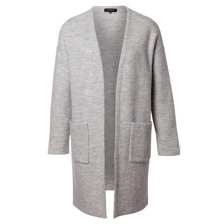 Darla Merino Wool Cardigan Light Grey