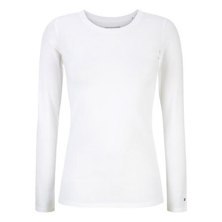 Iconic Logo Long Sleeve Pyjama Top White