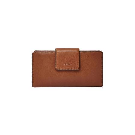 Emma RFID Tab Clutch Wallet Brown