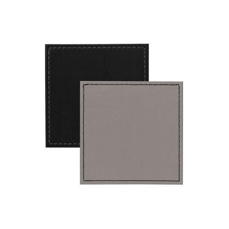 Faux Leather Coaster Grey