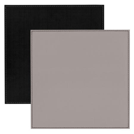Faux Leather Place Mat Grey