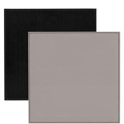 Faux Leather Place Mat Grey
