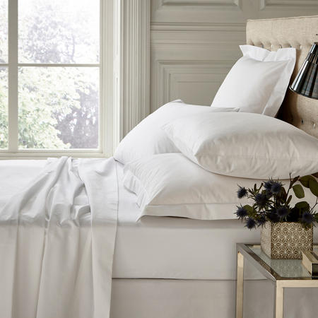 250 Thread Count Flat Sheet White
